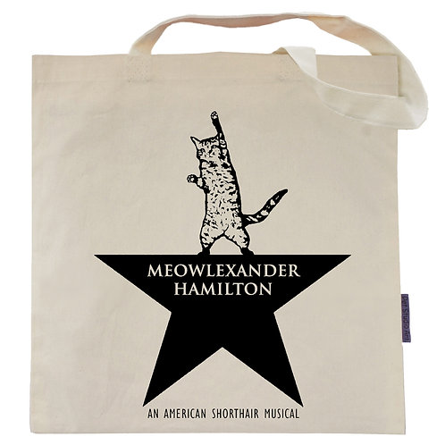 Pet Studio Meowlexander Hamilton Tote Bag