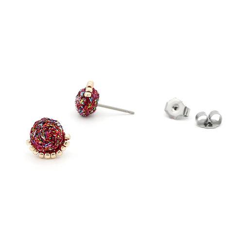 Ashdel Woven Demi Stud Earrings
