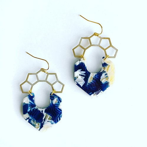 Stitch and Stone Acetate Crown Earrings