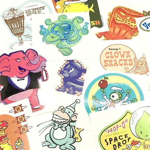 Blue Genie Art Bazaar Sticker Mystery Bag, stickers