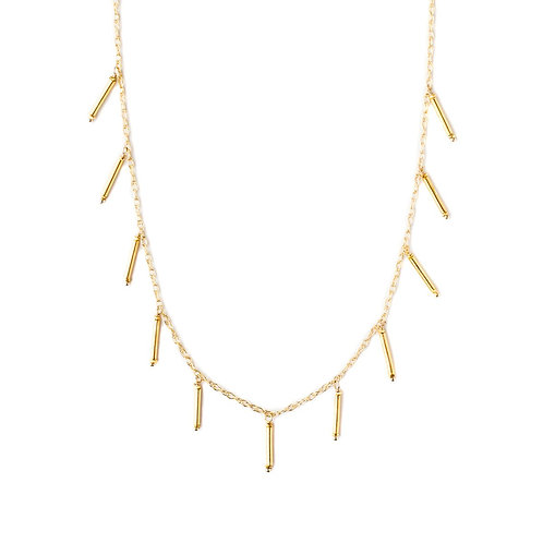 Zoe necklace, Kate Winternitz, gold necklace, elegant jewelry