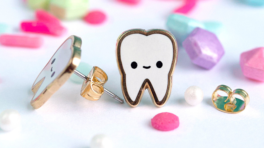 Teeth Earrings | Lux Cups Creative