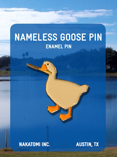 Nameless Goose pin, Nakatomi, unititled goose game, gamer gift