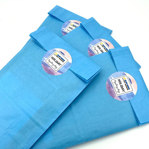 Blue Genie Art Bazaar Holiday Mystery Bag, holiday gift, surprise