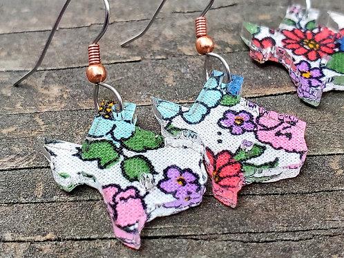 GemJunkie Texas Wildflower Earrings