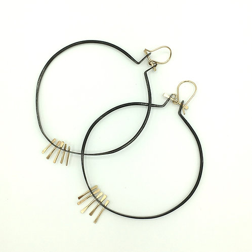 Connections round Earrings, Studio Forged, hoop earrings
