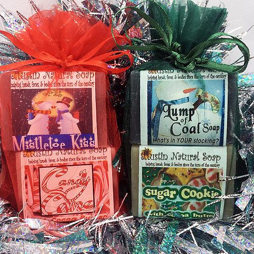 Austin Natural Soap 2-Bar Holiday Mini Soap Bag