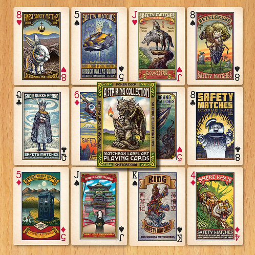 A Striking Collection: Matchbox Label Playing Cards, Chet Art, deck