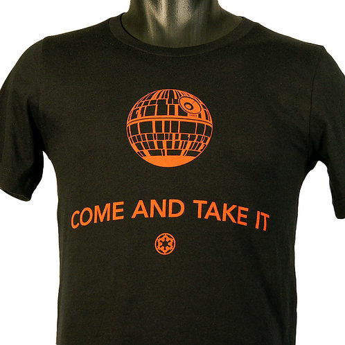 Come and take it deathstar t-shirt, Hammerknife press
