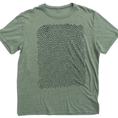 Forest vintage pine t-shirt, Paulville Goods, front
