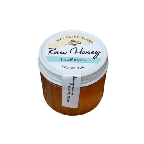 Two Hives Honey, Mini Raw Honey, Texas Honey