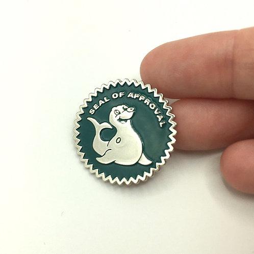 Seal of Approval Enamel Pin