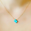 opal texas necklace, Stitch and Stone, blue opal necklace, Texas necklace, Texas gift