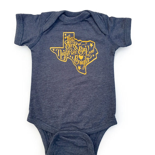 Stars at Night vintage navy Bodysuit, Mitten and Moustache, baby clothes, baby gift, texas baby