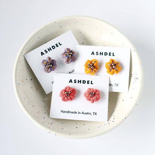 Ashdel Flower Bud Stud Earrings
