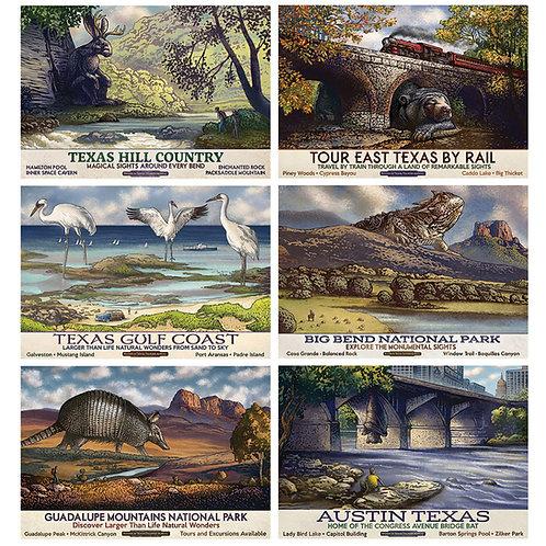 ChetArt Texas Travel Postcard Set