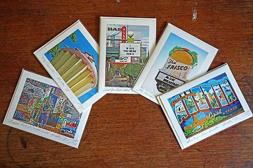 Ann Woodall Studios Greetings from Austin Greeting Card Set