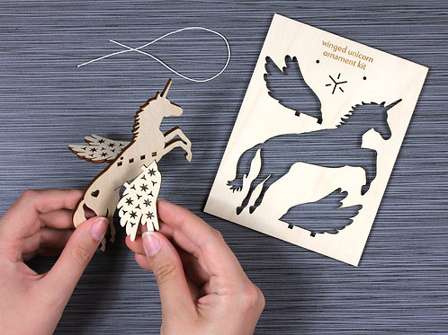 DIY ornament kit, Unicorn ornament, Bright Beam Goods