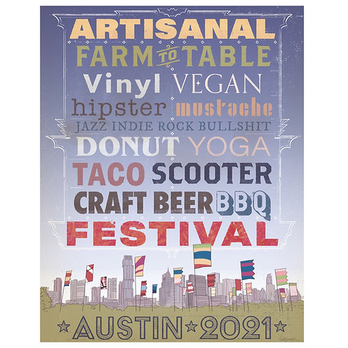 Todd Kale Ultimate Austin Festival Poster