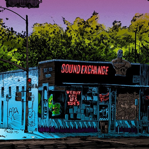 Lost Austin Series, art print, Sound check, Nakatomi Inc