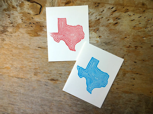 the foxes tail handmade note card texas