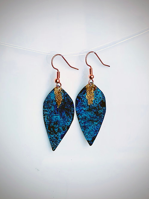 Beckon Earrings, Blue