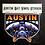 Austin Bat Vinyl Sticker, Chet Art, bat gift
