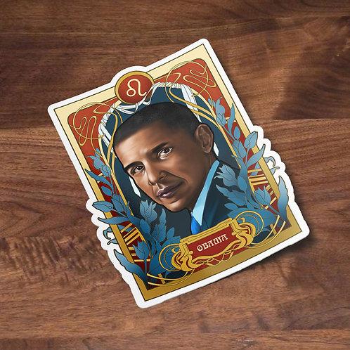 Black Zodiac Prints Stickers, Barack Obama