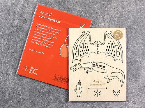 packaging, DIY Dragon ornament kit, Bright Beam Goods, dragon ornament