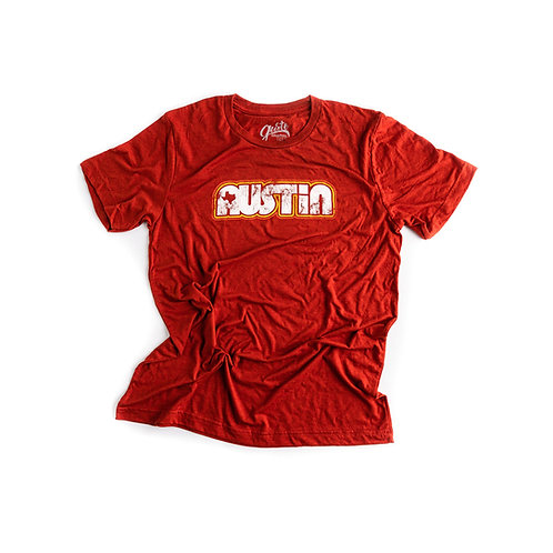 Gusto Graphic Tees Retro Austin t-shirt, red