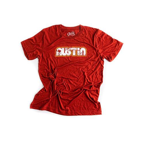 Gusto Graphic Tees Retro Austin t-shirt, red