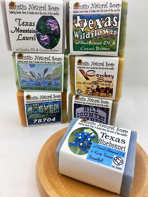 Austin Natural Soap Mini Bar
