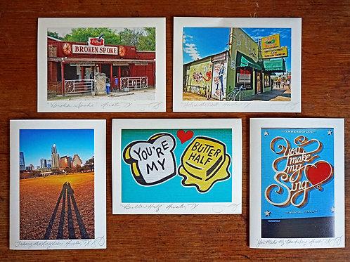 Ann Woodall Studios Butter Half Greeting Card Set