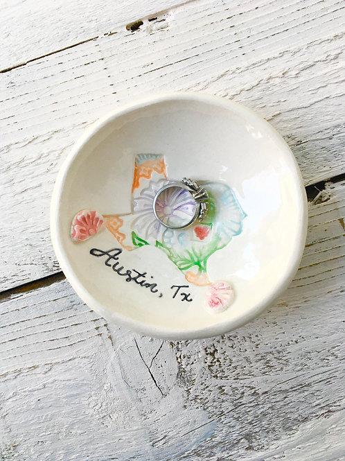 Tiny Happy Clay, Austin Texas, ring dish, ceramic