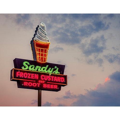 Sandy's Hamburgers, Slow Fuse Photography Print