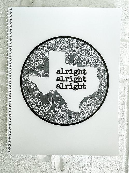 Lisa Zinna alright alright alright notebook, texas notebook