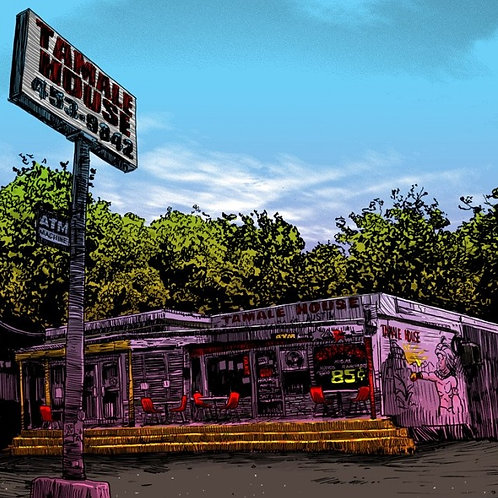 Lost Austin Series, art print, Tamale House, Nakatomi Inc