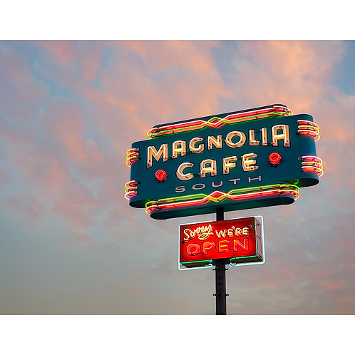 Slow Fuse Photography Magnolia Cafe Print