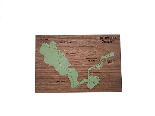 Barton Creek Greenbelt Map, mosey design, front