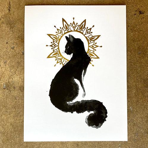 The Art of Annabelle Lewis Diana Print, Cat art