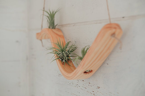 Small Wave Hanger, Horseman Co, air plant hanger, wooden hanging planter