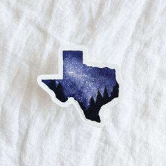 Starry Night Texas Sticker, Chloe Jane Gray