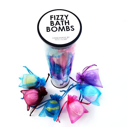 Fizzy Bath Bomb gift set, feto soap, self care gift, bath set gift, body care