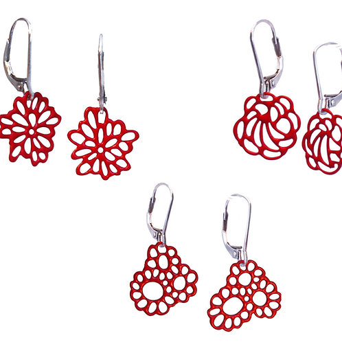 Pop-Out Jewelry Mini Flower Earrings
