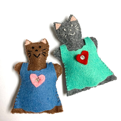 Lucky Little Cat Lavender Kitters, lavender sachet
