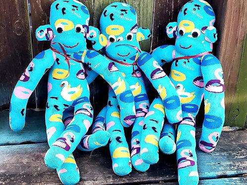 Monkey Business Turquoise Pool Floatie Sock Monkey