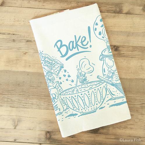 Fisk & Fern Bake! Tea Towel