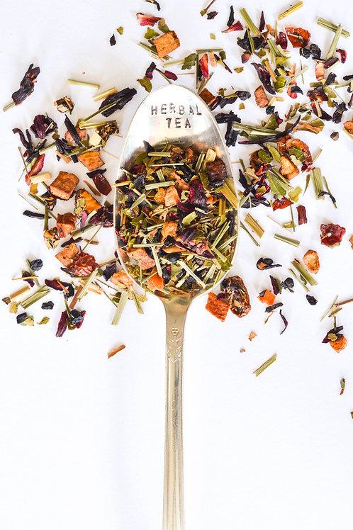 White Cloud World Teas Keep Austin Fruity Herbal Tea Blend