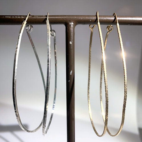 Studio Forged Textured Metal Hoops, simple jewelry