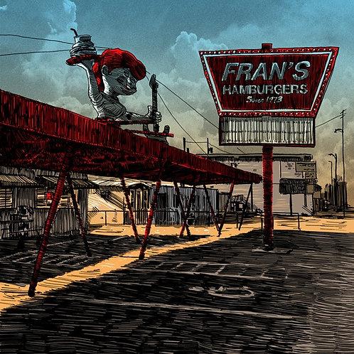 Lost Austin Series, art print, Fran's Hamburgers, Nakatomi Inc